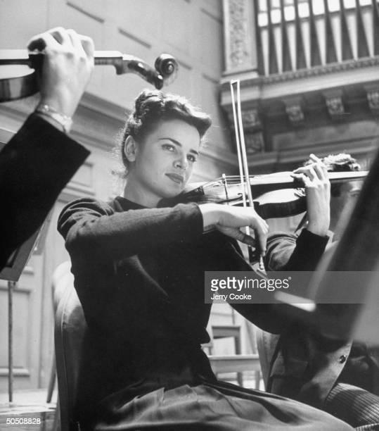 Marcia Van Dyke, first violin of the San Francisco Symphony Orchestra.