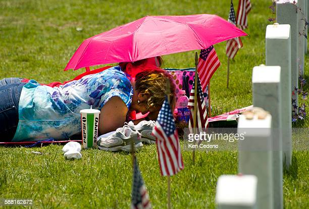 Marcia West foreground and her daughter Kristine Willis background visit US Army Ssgt Matt J West an EOD Specialist on Memorial Day weekend at...