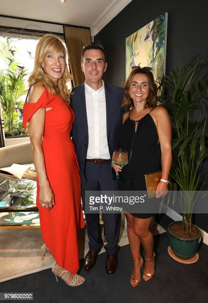 Marcia Zander Kevin Furniss and Emma Furniss attend the launch of Luna Mae London's debut Bespoke Swim and Resort collection featuring a...