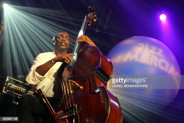 Bassist born in Panama City Alex Blake of Randy Weston's African Rythms Trio performs during the Marciac Jazz festival 13 August 2005 in Marciac...