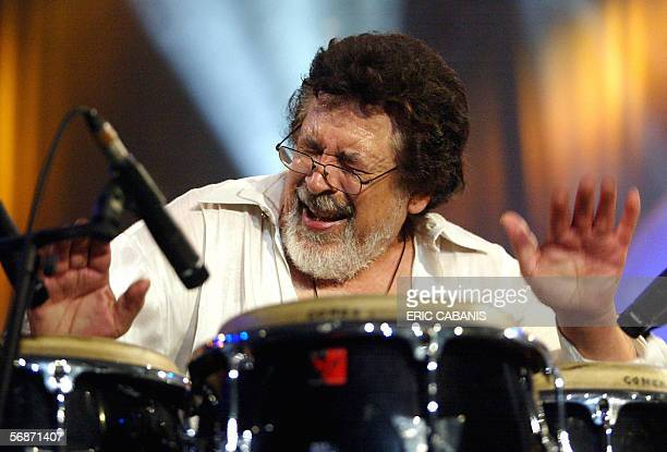 File picture of Latin jazz giant Ray Barretto performing with his his New World Spirit quintet during the music festival Jazz In Marciac 13 August...