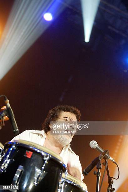 File picture of Puerto Rico Latin jazz giant Ray Barretto performing with his his New World Spirit quintet during the music festival Jazz In Marciac...