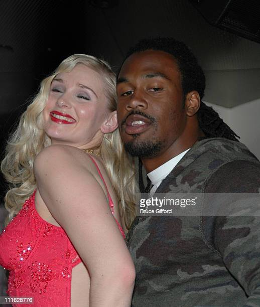 Marciano Runway Model and Steven Jackson during NFL Pro Bowler Steven Jackson and the Sirens of TI Team Up to Support Easter Seals Southern Nevada...
