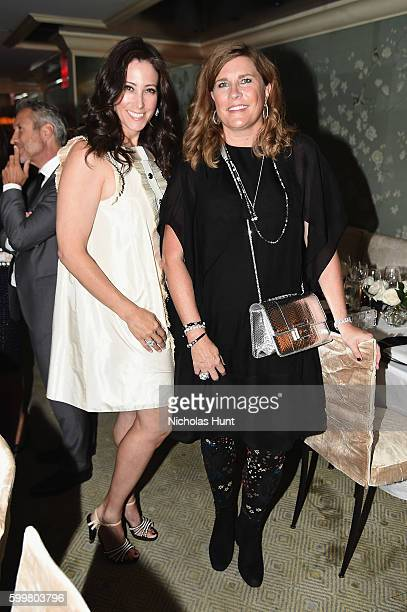 Marcie Gottlieb and Janyne Preston attend the CHANEL Fine Jewelry Dinner in honor of Keira Knightley at The Jewel Box Bergdorf Goodman on September 6...