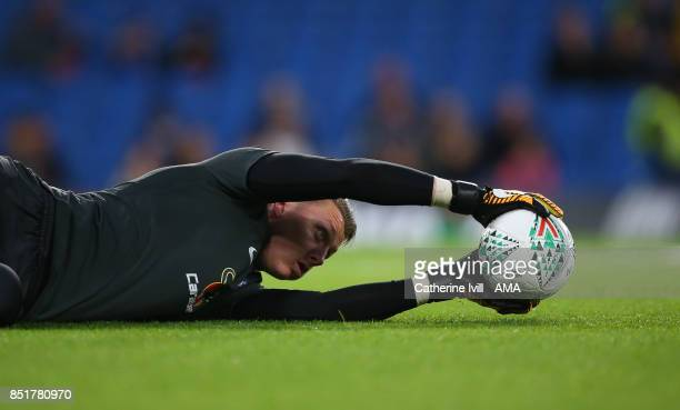 Marcin Bulka of Chelsea during the Carabao Cup Third Round match between Chelsea and Nottingham Forest at Stamford Bridge on September 20 2017 in...