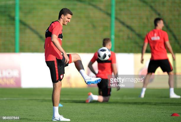 Marcin Kaminski during a training session of the Polish national team at Arlamow Hotel during the second phase of preparation for the 2018 FIFA World...