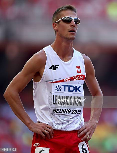 Marcin Lewandowski of Poland looks on before competing in the Men's 800 metres heats during day one of the 15th IAAF World Athletics Championships...