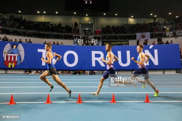 Marcin Lewandowski of Poland running the 1500 metres during Copernicus CUP IAAF World Indoor Tour at Torun Poland on 15 February 2018
