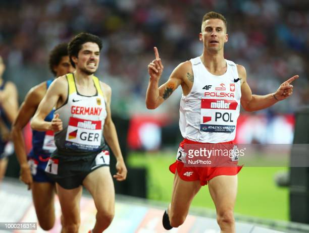 Marcin Lewandowski of Poland winner of the 1500m Men during Athletics World Cup London 2018 at London Stadium London on 15 July 2018