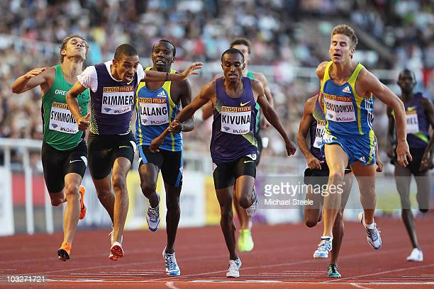 Marcin Lewandowski of Poland wins the men's 800m from Michael Rimmer of Great Britain during the IAAF Diamond League meeting at the Olympic Stadium...