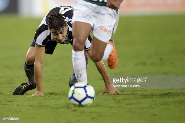 Marcinho of Botafogo in action during the match between Botafogo and Palmeiras as part of Brasileirao Series A 2018 at Engenhao Stadium on April 16...