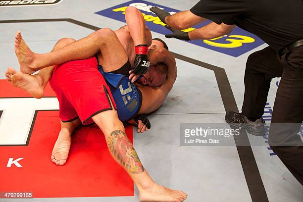 Marcio Alexandre Junior submits Giuliano Brescianni Arante during their elimination fight for season three of The Ultimate Fighter Brazil on January...
