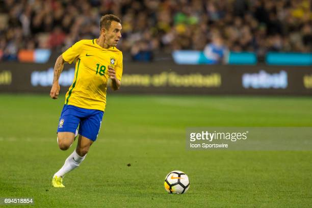 Marcio Rafael Souza of the Brazilian National Football Team runs with the ball during the International Friendly Match Between Brazilian National...