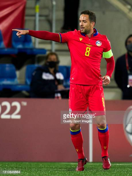 Marcio Vieira of Andorra looks on during the FIFA World Cup 2022 Qatar qualifying Group I match between Andorra and Hungary on March 31, at Estadi...