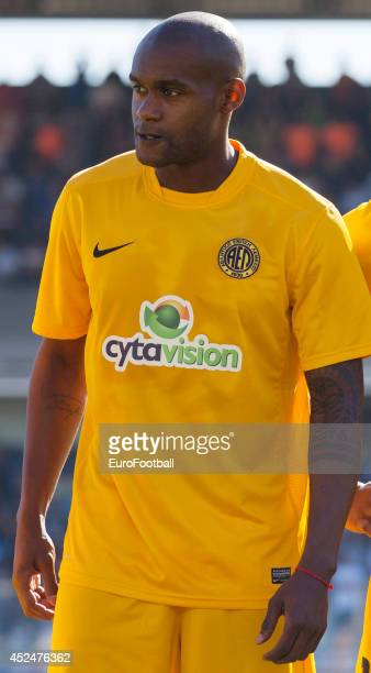 Marco Airosa of AEL Limassol before the Cypriot First Division match AEL Limassol FC and APOEL FC at the Tsirion Stadium on May 17 2014 in in...