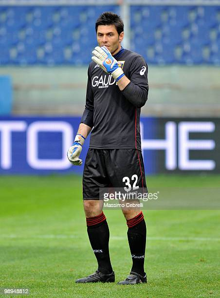 Marco Amelia of Genoa CFC during the Serie A match between Genoa CFC and AC Milan at Stadio Luigi Ferraris on May 9 2010 in Genoa Italy