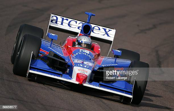 Marco Andretti driver of the ArcaEx Andretti Green Racing Dallara Honda drives his first laps during testing for the IRL Indycar Series on January 24...