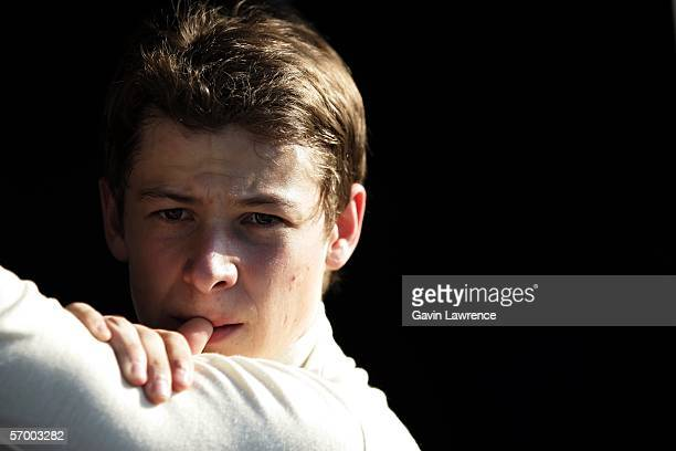 Marco Andretti driver of the ArcaEx Andretti Green Racing Dallara Honda during testing for the IRL Indycar Series on March 5 2006 at the Homestead...