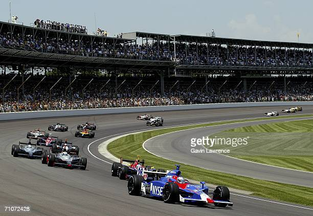 Marco Andretti drives the ArcaEx Andretti Green Racing Dallara Honda during the IRL Indycar Series 90th running of the Indianapolis 500 on May 28...