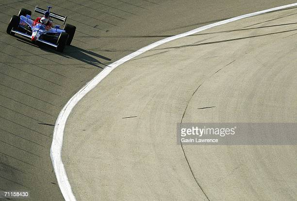 Marco Andretti drives the ArcaEx Andretti Green Racing Dallara Honda during practice at the Oak Creek Homes Qualifying Day for the Indy Racing League...