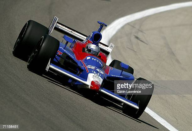 Marco Andretti drives the ArcaEx Andretti Green Racing Dallara Honda during practice on the Oak Creek Homes Qualifying Day for the Indy Racing League...