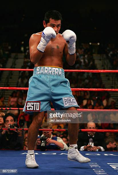 Marco Antonio Barrera in the ring against Robbie Peden in the WBC-IBF Unification Super Featherweight World Title fight at the MGM Grand Garden Arena...