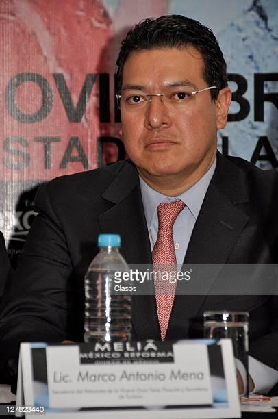 Marco Antonio Mena at Nueva Gran Feria de Tlaxcala press conference at Melia Hotel on september 29 2011 in Mexico City Mexico