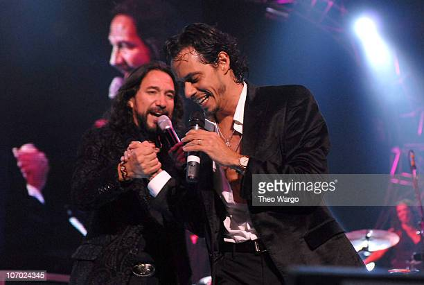 Marco Antonio Solis and Marc Anthony during 2006 Juntos en Concierto Featuring Marc Anthony at Madison Square Garden - August 9, 2006 at MSG in New...