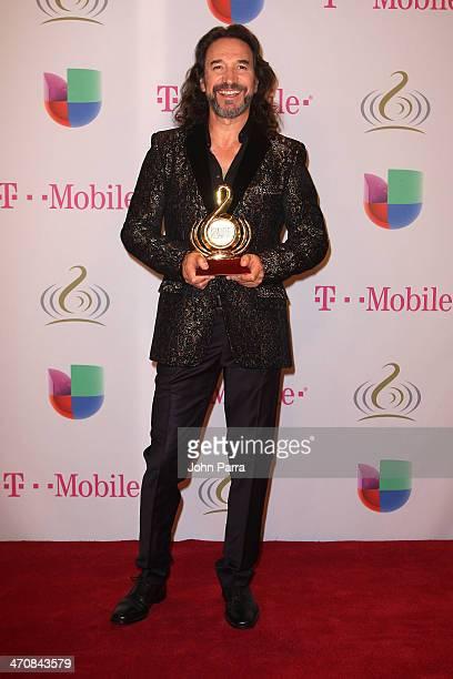 Marco Antonio Solis attends Premio Lo Nuestro a la Musica Latina 2014 at American Airlines Arena on February 20 2014 in Miami Florida