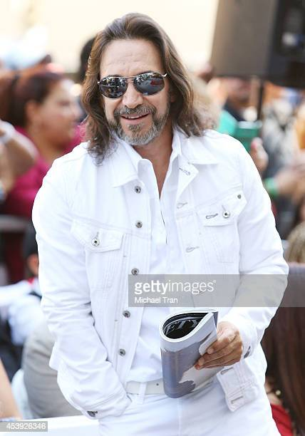 Marco Antonio Solis attends the ceremony honoring Los Tigres Del Norte with a Star on The Hollywood Walk of Fame held on August 21, 2014 in...