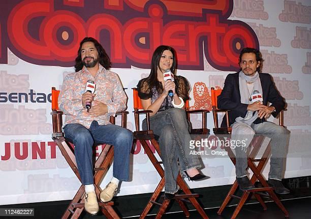 Marco Antonio Solis, Laura Pausini and Marc Anthony