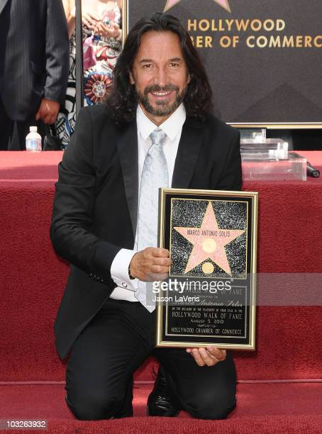 Marco Antonio Solis receives a star on the Hollywood Walk of Fame on August 5, 2010 in Hollywood, California.