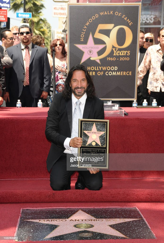 Musician Marco Antonio Solis Receives Star On Hollywood Walk Of Fame