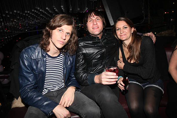 Marco Argiro of The Killing Floor Jonny Dubowsky and Jacquie Fernandez attend Barry Mullineaux`s birthday celebration at Greenhouse on January 19...