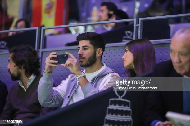 Marco Asensio and Sandra Garal attend Copa Davis Finals at Caja Magica on November 20 2019 in Madrid Spain