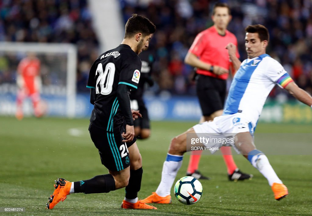 BUTARQUE, LEGANES, MADRID, SPAIN - : Marco Asensio (Real Madrid) during the La Liga Santander match between Leganes vs Real Madrid at the Estadio Butarque. Final Score Leganes 1 Real Madrid 3.