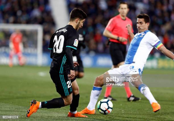 BUTARQUE LEGANES MADRID SPAIN Marco Asensio during the La Liga Santander match between Leganes vs Real Madrid at the Estadio Butarque Final Score...
