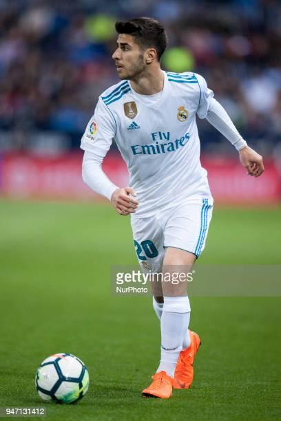 Marco Asensio during the match between Malaga CF against Real Madrid week 32 of La Liga 2017/18 in Rosaleda stadium Malaga SPAIN 15th April of 2018