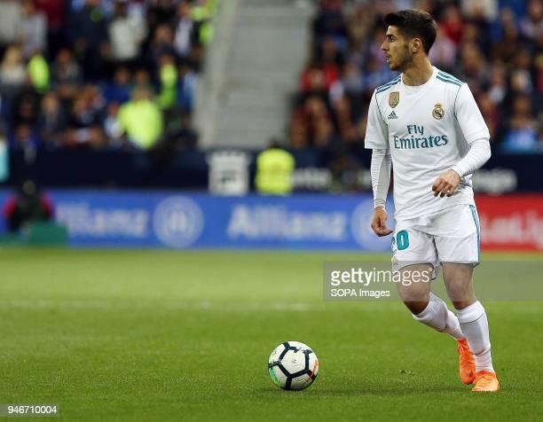 LA ROSALEDA MALAGA ANDALUSIA SPAIN Marco Asensio in action during the La Liga match between Malaga CF and Real Madrid CF at Estadio La Rosaleda...