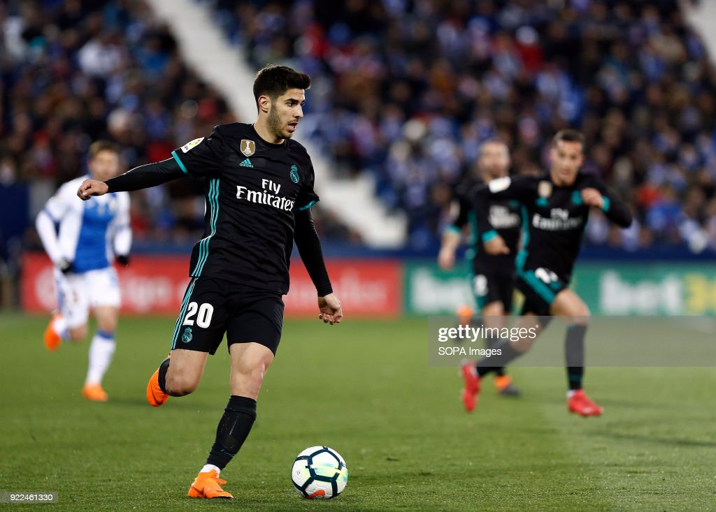 Marco Asensio (Real Madrid) in action during the match... : ニュース写真