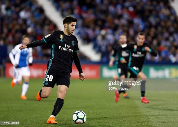 BUTARQUE LEGANES MADRID SPAIN Marco Asensio in action during the match between Leganes vs Real Madrid at the Estadio Butarque Final Score Leganes 1...