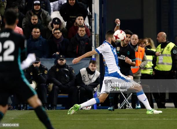 STADIUM LEGANéS MADRID SPAIN Marco Asensio Jan 2018 Leganes CD and Real Madrid CF at Butarque Stadium Copa del Rey Quarter Final First Leg match