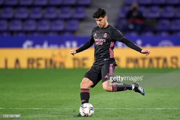 Marco Asensio of Real Madrid does passed during the La Liga Santander match between Real Valladolid CF and Real Madrid at Estadio Municipal Jose...