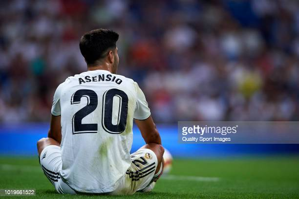 Marco Asensio of Real Madrid during the La Liga match between Real Madrid CF and Getafe CF at Estadio Santiago Bernabeu on August 19 2018 in Madrid...