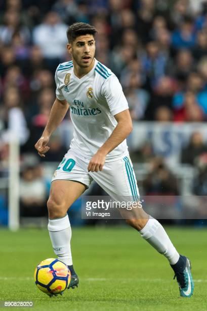 Marco Asensio of Real Madrid during the La Liga Santander match between Real Madrid CF and Sevilla FC on December 09 2017 at the Santiago Bernabeu...
