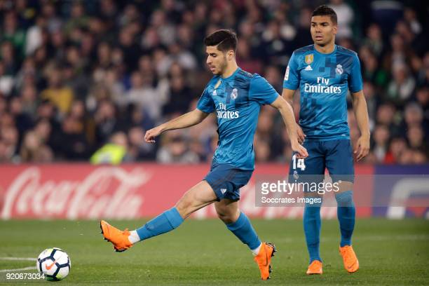 Marco Asensio of Real Madrid during the La Liga Santander match between Real Betis Sevilla v Real Madrid at the Estadio Benito Villamarin on February...
