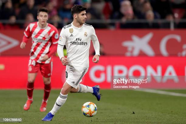 Marco Asensio of Real Madrid during the Spanish Copa del Rey match between Girona v Real Madrid at the Estadi Municipal Montilivi on January 31 2019...
