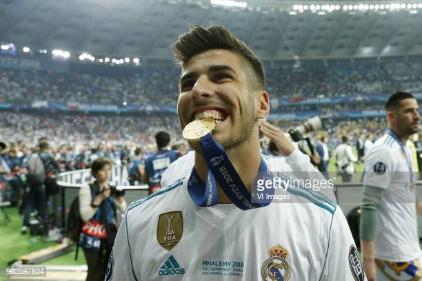 Marco Asensio of Real Madrid during the UEFA Champions League final between Real Madrid and Liverpool on May 26 2018 at NSC Olimpiyskiy Stadium in...