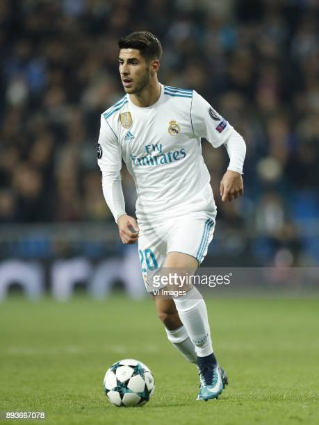 Marco Asensio of Real Madrid during the UEFA Champions League group H match between Real Madrid and Borussia Dortmund on December 06 2017 at the...