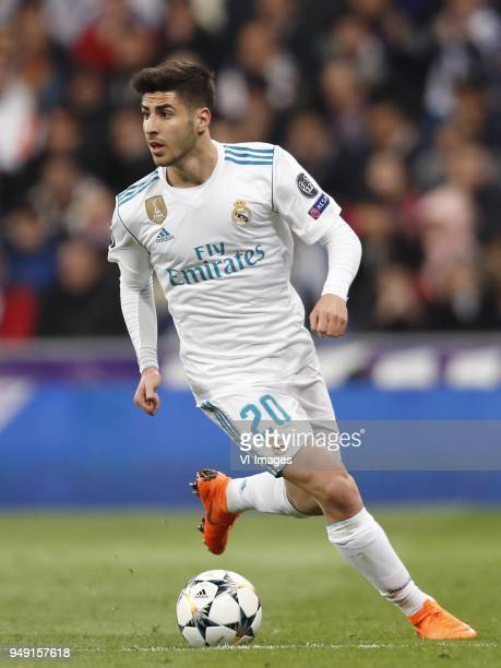 Marco Asensio of Real Madrid during the UEFA Champions League quarter final match between Real Madrid and Juventus FC at the Santiago Bernabeu...